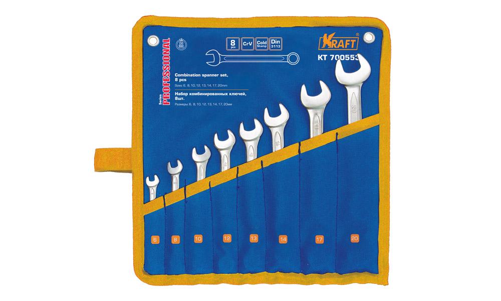 Набор ключей комбинированных Kraft