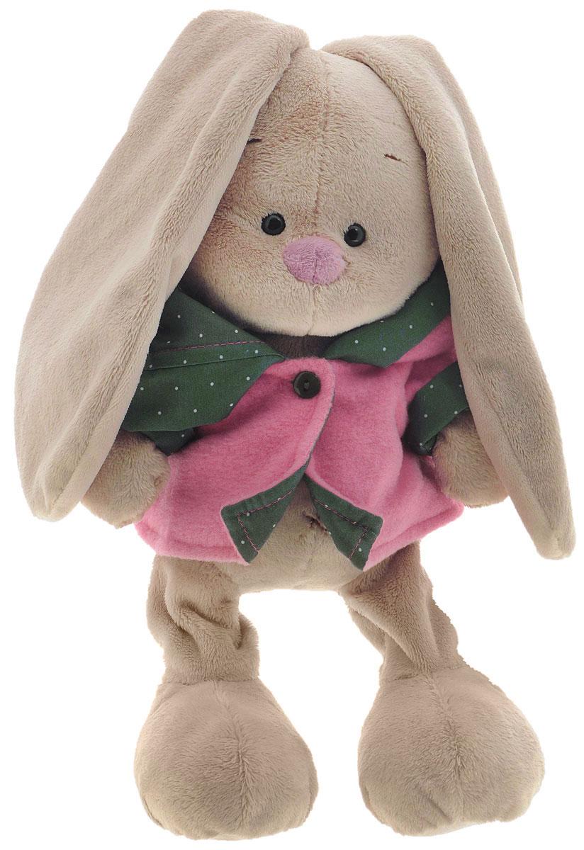 Мягкая игрушка Зайка Ми в куртке с капюшоном 22 смSidM-072Мягкая игрушка Зайка Ми в куртке с капюшоном подарит малышу немало прекрасных мгновений. Мягкая игрушка изготовлена на основе сказочных образов двух зайчиков. Зайки Мика и Мия похожи друг на друга, как две пуговки на одной рубашке. Поэтому все зовут их Зайка Ми. Эти милые зайки необыкновенно творческие натуры и ни минуты не сидят без дела. У Зайки маленькие черные глазки, длинные мягкие ушки и симпатичный носик. Игрушка одета в куртку с объемным капюшоном. Мягкие игрушки очень полезны для малышей, потому как весьма позитивно влияют на детскую нервную систему, прогоняя всевозможные страхи. Играя, малыш развивает фантазию и воображение, развивает тактильную чувствительность и хватательные рефлексы. Игрушка выполнена из нетоксичных гипоаллергенных материалов и содержит мелкие гранулы, способствующие развитию мелкой моторики у детей.