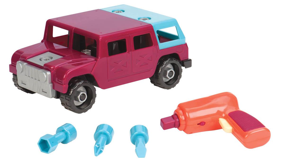 Battat Игрушка-конструктор Разборный внедорожник68707Игрушка-конструктор Разборный внедорожник обязательно привлечет внимание вашего малыша. Игрушка выполнена из прочного пластика ярких цветов. Игрушка имеет неповторимый дизайн, максимально безопасна и надежна и, что не менее важно, обладает высоким развивающим потенциалом. В комплект входят 21 деталь машинки, автоматический шуруповерт и 3 различные насадки для него. При помощи шуруповерта игрушку можно разбирать и собирать множество раз, как конструктор. Разные насадки подойдут для разных элементов машинки. Все элементы конструктора имеют увеличенные размеры и малыш сможет легко собрать их самостоятельно. Колесики машинки вращаются. С такой игрушкой ваш ребенок весело проведет время, играя на детской площадке или в песочнице. А процесс сборки игрушки-конструктора поможет малышу развить мелкую моторику пальчиков, внимательность и усидчивость. Порадуйте своего малыша такой чудесной игрушкой. Необходимо докупить 2 батарейки напряжением 1,5V типа AA (в комплект не...