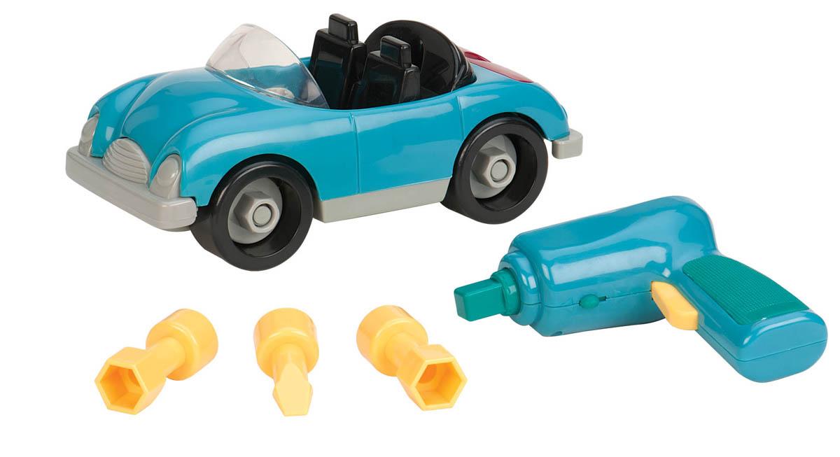 Battat Игрушка-конструктор Разборный кабриолет68705Игрушка-конструктор Battat Разборный кабриолет обязательно привлечет внимание вашего малыша. Игрушка выполнена из прочного пластика ярких цветов. В комплект входит отвертка с 3 насадками и 18 элементов кабриолета-конструктора. При помощи пластиковой отвертки игрушку можно разбирать и собирать множество раз, как конструктор. Пластиковая отвертка работает на батарейках, а насадки разной формы пригодятся для различных элементов кабриолета. Все элементы конструктора имеют увеличенные размеры и малыш сможет легко собрать их самостоятельно. Колесики машинки вращаются. С такой игрушкой ваш ребенок весело проведет время, играя на детской площадке или в песочнице. А процесс сборки игрушки-конструктора поможет малышу развить мелкую моторику пальчиков, внимательность и усидчивость. Порадуйте своего малыша такой чудесной игрушкой! Необходимо докупить 2 батарейки напряжением 1,5V типа AA (в комплект не входят).