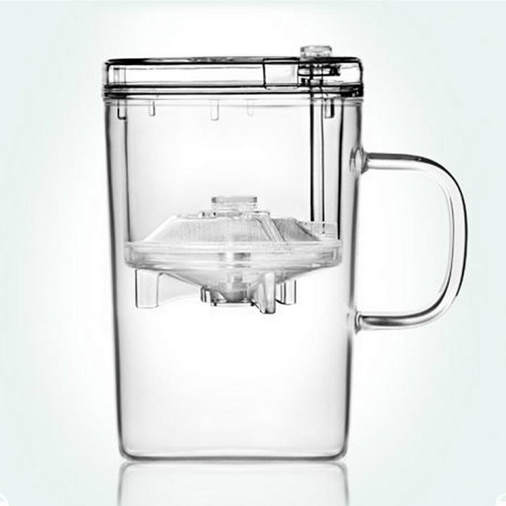 Кружка заварочная Samadoyo, 500 мл02114Заварочная кружка Samadoyo - простой и в то же время профессиональный инструмент для того, чтобы заварить ваш любимый чай. Уникальный механизм слива чайного настоя позволяет вам получить напиток любой степени крепости. И что очень важно - нет необходимости покупать отдельно чайник и кружку. Это нехитрое устройство заменит вам сразу два этих предмета. Такая технология заваривания чая повторяет основной смысл чайной церемонии - получить напиток максимального качества. Однако, имеет перед ней два существенных преимущества - мобильность и простоту. Кружку можно не только комфортно использовать на работе или в офисе, но и взять с собой в путешествие, чтобы ваш любимый чай был всегда с вами. Закаленное стекло выдерживает до 180°С, что позволяет не беспокоиться относительно слишком горячего кипятка. Заварочная колба выполнена из специального пищевого пластика, имеет металлическую сетку-фильтр, предотвращающую попадание чаинок в настой, а специальный...