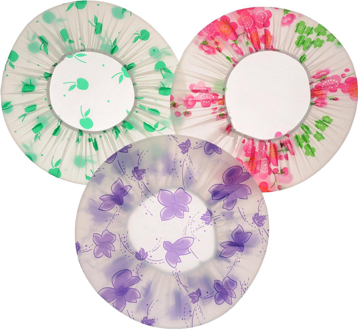 Набор шапочек для душа Цветы, в ассортименте, 3 шт. 820-865