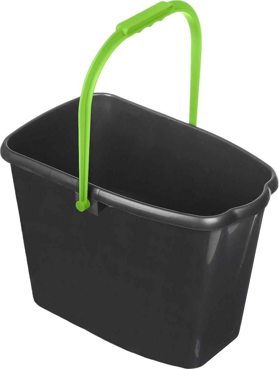 Ведро для уборки Мир чистоты, цвет: серый, зеленый, 10 лW004Ведро для уборки Мир чистоты изготовлено из высококачественного пластика. Оно легче железного и не подвержено коррозии. Ведро оснащено удобной пластиковой ручкой. Такое ведро станет незаменимым помощником в хозяйстве. Размер ведра (по верхнему краю): 32 х 18 см. Высота стенок: 23,5 см.