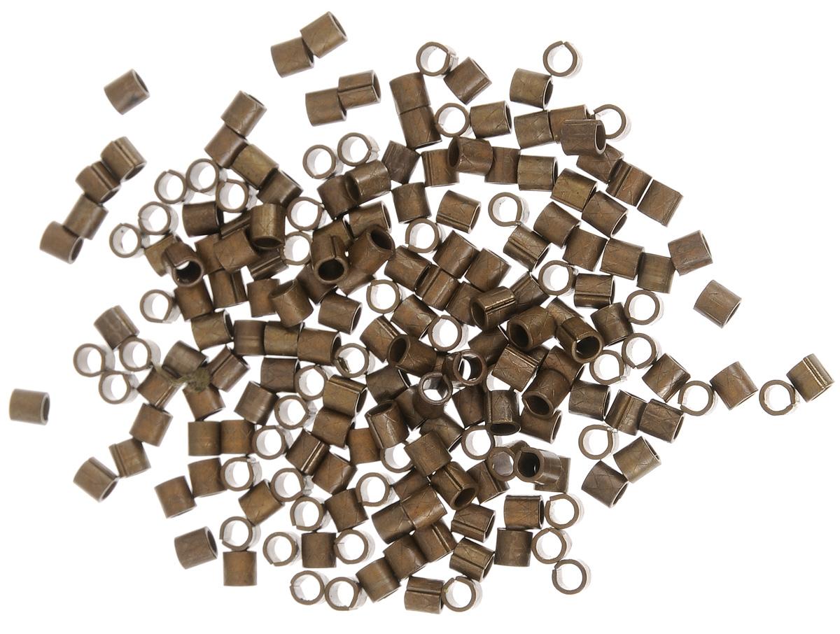 Бусина-разделитель Vintaj, цвет: бронзовый, 3 х 2,5 мм, 206 штBD150Набор Vintaj состоит из 206 бусин-разделителей, изготовленных из металла. Спейсеры (бусины-разделители) - фурнитура для бижутерии, позволяющая добиться интересных эффектов путем чередования материалов. Используются как бусина-разделитель там, где необходимо дополнительное пространство между более крупными бусинами, либо как декоративный элемент. Диаметр бусины-разделителя: 2,5 мм. Длина бусины-разделителя: 3 мм.