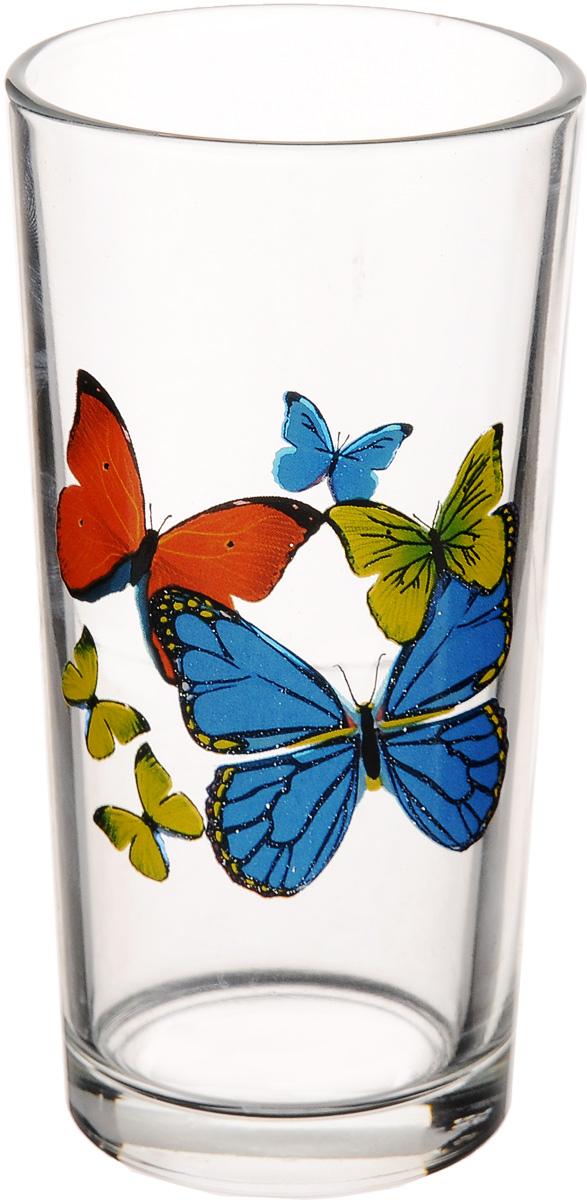 Стакан OSZ Ода. Танец бабочек высокий, 230 мл05с1256 ДЗ ТБ микс_оранжевый, синий, желтыйСтакан OSZ Ода. Танец бабочек изготовлен из бесцветного стекла. Идеально подходит для сервировки стола. Стакан не только украсит ваш кухонный стол и подчеркнет прекрасный вкус хозяйки. Диаметр стакана (по верхнему краю): 6,5 см. Диаметр основания: 5 см. Высота стакана: 12,5 см.