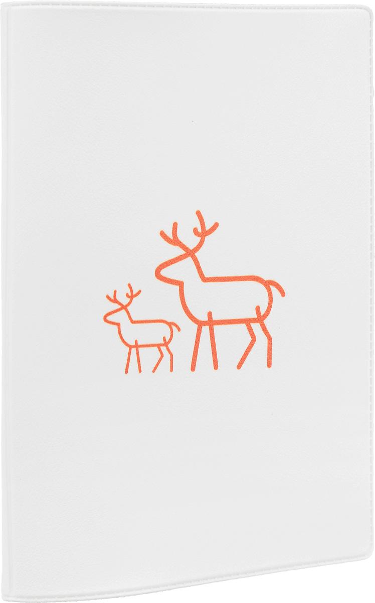 Обложка для паспорта Mitya Veselkov Олень с олененком, цвет: белый, оранжевый. OZAM376OZAM376Обложка для паспорта Олень с олененком не только поможет сохранить внешний вид ваших документов и защитить их от повреждений, но и станет стильным аксессуаром, идеально подходящим вашему образу. Обложка выполнена из поливинилхлорида и оформлена контурным изображением оленя с олененком. Внутри имеет два вертикальных кармана из прозрачного пластика. Такая обложка поможет вам подчеркнуть свою индивидуальность и неповторимость!
