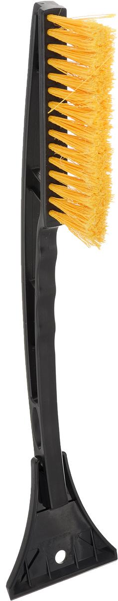 Щетка для снега Sapfire со скребком, цвет: черный, желтый, длина 44 смSF-0072_черный/желтыйЩетка для снега Sapfire изготовлена из твердого морозостойкого пластика. Рассчитана на низкие температуры и длительную эксплуатацию. Мощный скребок с зубьями для твердого льда. Особо мягкая щетина из высокоупругого полимера предотвращает царапины на лакокрасочном покрытии. Длина щетки: 44 см. Длина щетины: 5 см. Ширина скребка: 9,5 см. Длина рабочей поверхности щетины: 10 см.
