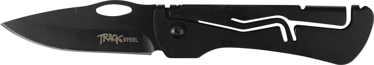 Нож складной Track Steel B210-405542104Складной нож для ежедневного ношения (EDC) Длина клинка: 75 мм Толщина клинка: 2,2 мм Общая длина ножа: 180 мм Материал клинка: сталь 440A Рукоять: сталь Ножны: нет