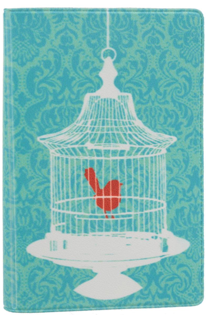 Визитница Mitya Veselkov Птичка в клетке, цвет: бирюзовый, белый. VIZAM060VIZAM060Оригинальная визитница Mitya Veselkov Птичка в клетке прекрасно подойдет для хранения визиток и пластиковых карт. Визитница выполнена из ПВХ и оформлена изображением птицы в клетке. Внутри содержатся съемный блок из прозрачного мягкого пластика на восемнадцать визиток и два прозрачных боковых кармана. Стильная визитница подчеркнет вашу индивидуальность и изысканный вкус, а также станет замечательным подарком человеку, ценящему качественные и практичные вещи.