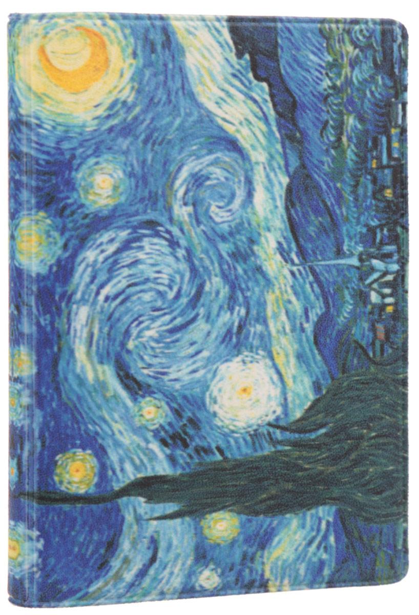 Визитница Mitya Veselkov Ван Гог. Звездная ночь, цвет: синий, желтый. VIZAM027VIZAM027Оригинальная визитница Mitya Veselkov Ван Гог. Звездная ночь прекрасно подойдет для хранения визиток и пластиковых карт. Визитница выполнена из ПВХ и оформлена изображением художественного произведения Винсента Ван Гога Звездная ночь. Внутри содержится съемный блок из прозрачного мягкого пластика на восемнадцать визиток и два прозрачных боковых кармана. Стильная визитница подчеркнет вашу индивидуальность и изысканный вкус, а также станет замечательным подарком человеку, ценящему качественные и практичные вещи.
