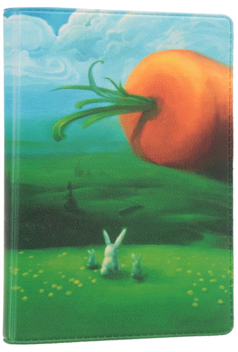 Визитница Mitya Veselkov Заяц и морковка, цвет: зеленый, голубой, оранжевый. VIZAM049VIZAM049Оригинальная визитница Mitya Veselkov Заяц и морковка прекрасно подойдет для хранения визиток и пластиковых карт. Визитница выполнена из ПВХ и оформлена изображением зайцев и морковки. Внутри содержится съемный блок из прозрачного мягкого пластика на восемнадцать визиток и два прозрачных боковых кармана. Стильная визитница подчеркнет вашу индивидуальность и изысканный вкус, а также станет замечательным подарком человеку, ценящему качественные и практичные вещи.