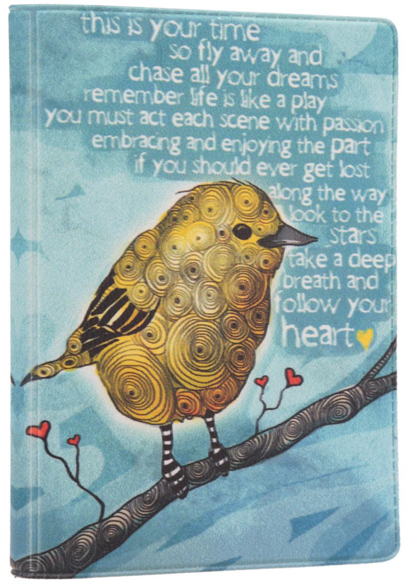 Визитница Mitya Veselkov Птица, цвет: бирюзовый, желтый. VIZAM061VIZAM061Оригинальная визитница Mitya Veselkov Птица прекрасно подойдет для хранения визиток и пластиковых карт. Визитница выполнена из ПВХ и оформлена изображением птицы. Внутри содержатся съемный блок из прозрачного мягкого пластика на восемнадцать визиток и два прозрачных боковых кармана. Стильная визитница подчеркнет вашу индивидуальность и изысканный вкус, а также станет замечательным подарком человеку, ценящему качественные и практичные вещи.