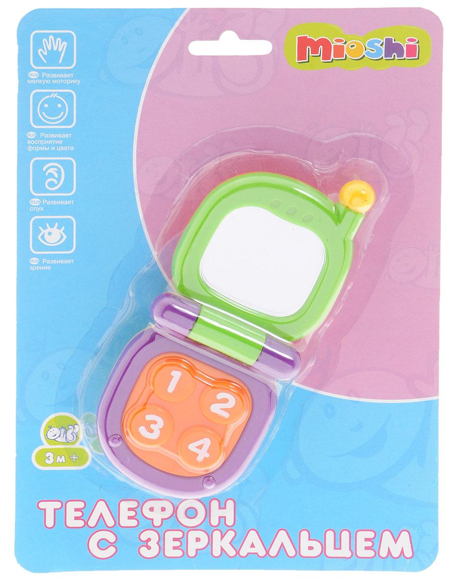 Mioshi Развивающая игрушка Телефон с зеркальцем цвет зеленый фиолетовый
