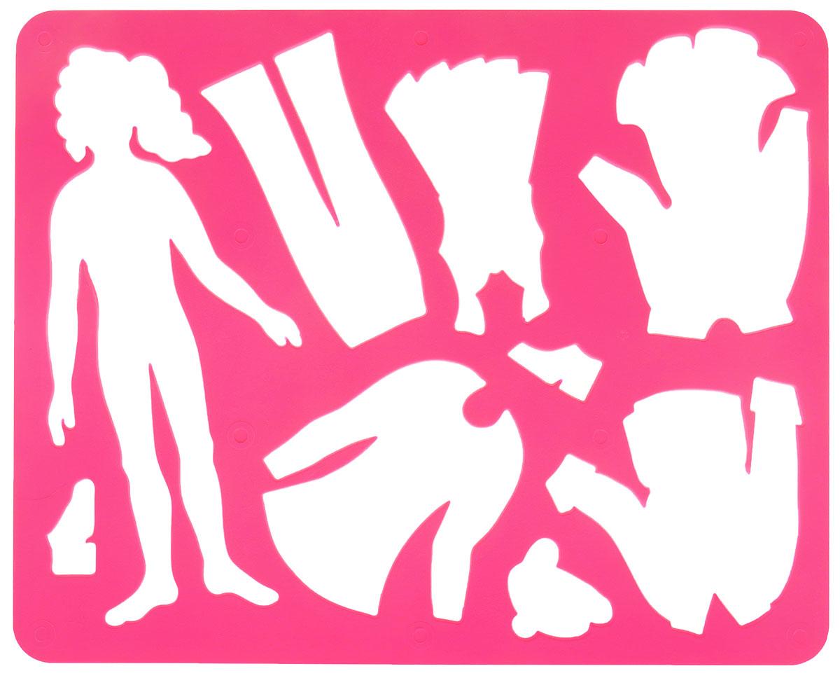 Луч Трафарет прорезной Катин гардероб цвет малиновый10С 529-08_ малиновыйТрафарет Луч Катин гардероб, выполненный из безопасного пластика, предназначен для детского творчества. По трафарету маленький художник сможет нарисовать кукольные наряды и играть с бумажными куклами, создавая им новые образы. Для этого необходимо положить трафарет на лист бумаги, обвести фигуру по контуру и раскрасить по своему вкусу или глядя на цветную картинку-образец. Трафареты предназначены для развития у детей мелкой моторики и зрительно-двигательной координации, навыков художественной композиции и зрительного восприятия.