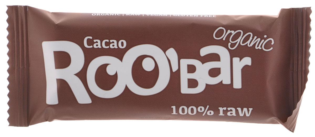ROOBAR Cacao Organic батончик, 50 г162Энергетический батончик ROOBAR Cacao Organic со сладкими финиками, хрустящим миндалем и перуанским Криолло какао-порошком. Здоровая пища может быть вкусной. Этот продукт содержит только натуральные фруктовые сахара.