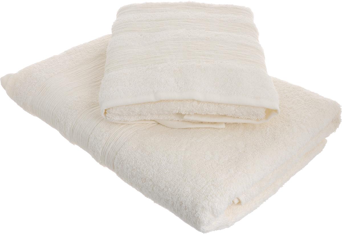 Набор махровых полотенец Унисон Caprice, цвет: белый, 2 шт290140Набор Унисон Caprice состоит из двух махровых полотенец разного размера, выполненных из натурального 100% хлопка. Изделия отлично впитывают влагу, быстро сохнут, сохраняют яркость цвета и не теряют формы даже после многократных стирок. Торговая марка Унисон соединяет в своих изделиях достойный уровень качества, новейшие дизайнерские технологии и заботу о наиболее комфортном отдыхе. Рекомендации по уходу: - Махровые полотенца следует стирать при температуре 40 градусов; - Сушить при низкой и средней температуре; - Не использовать отбеливатели. Размеры полотенец: 50 х 90 см, 70 х 140 см.