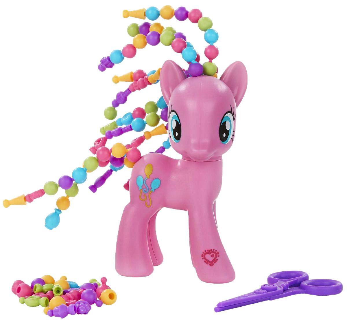 My Little Pony Фигурка Pinkie Pie с разными прическамиB3603EU4_B5417Фигурка My Little Pony Pinkie Pie из популярного мультсериала Дружба - это чудо со смешной прической украсит полку любой девочки. Игрушка изготовлена из пластика, который безопасен для здоровья ребенка. Помимо фигурки в набор входят различные аксессуары для создания стильного образа Пинки Пай. На ножке фигурки лошадки вы найдете специальный код, который сканируется при помощи мобильного устройства и открывает дополнительные функции в игровом приложении My Little Pony. Ваша малышка будет в восторге от такого подарка!