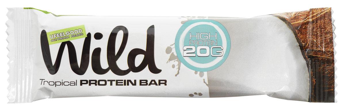 UFEELGOOD Wild Tropical Protein Bar батончик, 50 г