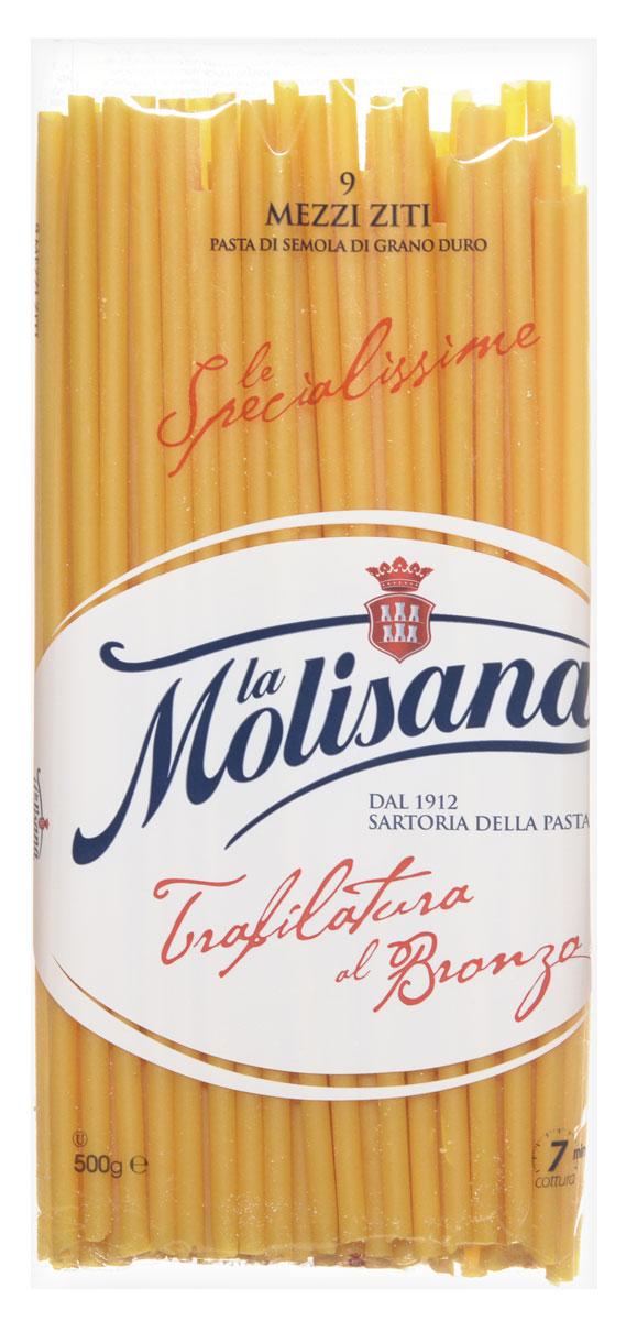Макароны La Molisana Mezzi Ziti сделаны из муки твердых сортов, содержащей чуть меньшее количество клейковины, чем обыкновенная мука. Она хорошо поглощает воду, макароны из нее при варке увеличиваются и не развариваются.