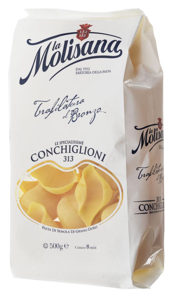 La Molisana Conchiglioni ракушки рифленые, 500 г0190032Рифленые ракушки La Molisana Conchiglioni сделаны из муки твердых сортов, содержащей чуть меньшее количество клейковины, чем обыкновенная мука. Она хорошо поглощает воду, макароны из нее при варке увеличиваются и не развариваются.