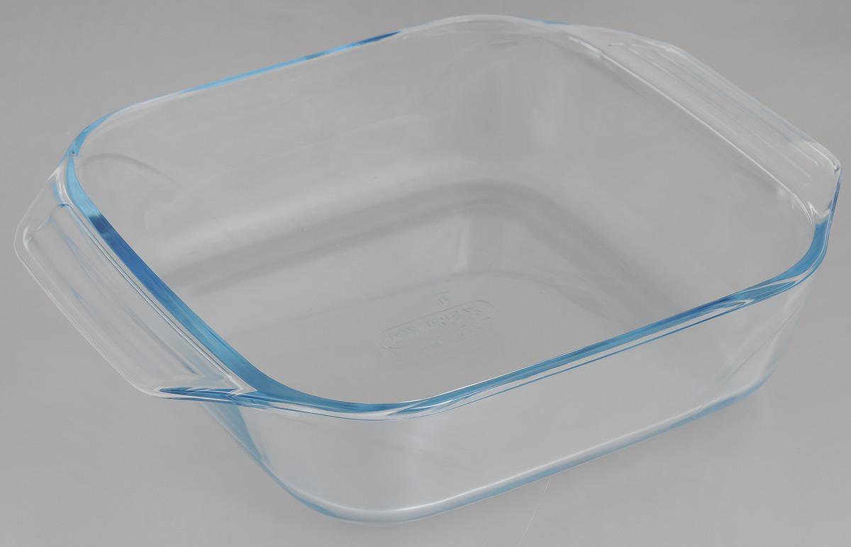 Форма для запекания Pyrex Optimum, 29 x 23 см400B000Прямоугольная форма для запекания Pyrex Optimum изготовлена из жаропрочного стекла, которое выдерживает температуру до +300°С. Форма предназначена для выпечки и запекания. Оснащена двумя ручками. Материал изделия гигиеничен, прост в уходе и обладает высокой степенью прочности, стойкостью к царапинам, образованию пятен и впитыванию запахов. Форма идеально подходит для использования в духовках, микроволновых печах, холодильниках и морозильных камерах (до -40°С). Можно мыть в посудомоечной машине. Размер формы (с учетом ручек): 29 х 23 см. Внутренний размер формы: 22 х 22 см. Высота стенки: 7 см.
