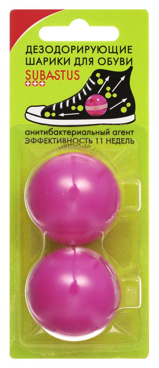 Дезодорирующие шарики Subastus для обуви, 2 шт3144311550Дезодорирующие шарики-капсулы Subastus устраняют бактерии благодаря бактерицидному агенту, который уничтожает микрофлору, вызывающую неприятный запах и придают обуви аромат свежести. Дезодорирующие шарики-капсулы для ног Subastus просты в использовании: просто откройте их и поместите на ночь в обувь. Шарики многоразового использования. Характеристики: Состав: бактерицидный агент Превентол, отдушка. Материал шарика: пластик. Диаметр шарика: 3,5 см. Комплектация: 2 шт. Производитель: Франция. Артикул: 3144311550. Товар сертифицирован.