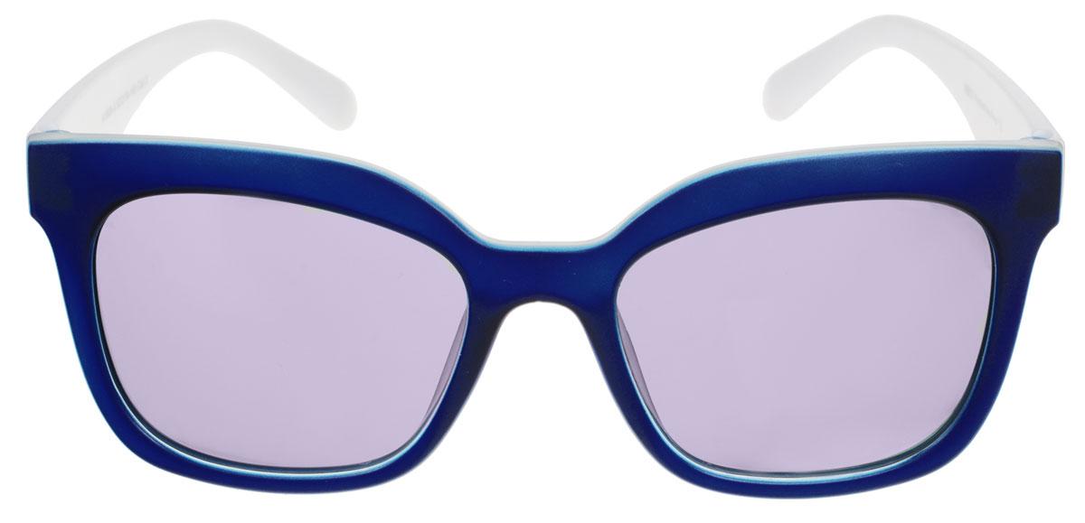 Очки солнцезащитные женские Fabretti, цвет: белый, синий. A1609-6A1609-6Солнцезащитные женские очки Fabretti выполнены с линзами из высококачественного пластика с зеркальным эффектом. Используемый пластик не искажает изображение, не подвержен нагреванию и вредному воздействию солнечных лучей, защищает от бликов, повышает контрастность и четкость изображения, снижает усталость глаз и обеспечивает отличную видимость. Линзы имеют степень затемнения Cat. 3. Пластиковая оправа очков легкая, прилегающей формы и поэтому не создает никакого дискомфорта. Такие очки защитят глаза от ультрафиолетовых лучей, подчеркнут вашу индивидуальность и сделают ваш образ завершенным.
