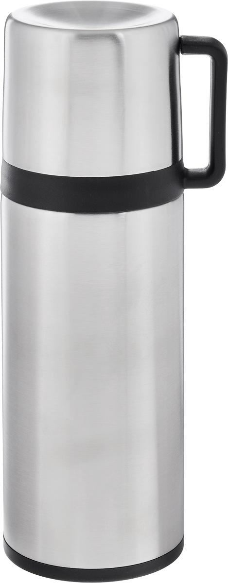 Термос Tescoma Constant, с крышкой-кружкой, цвет: серебристый, черный, 300 мл318520Термос Tescoma Constant предназначен для хранения теплых и холодных напитков на длительное время. Изделие изготовлено из пластика и высококачественной нержавеющей стали с двойной колбой. Пробка плотно закручивается, а благодаря вакуумной кнопке внутри создается абсолютная герметичность, что предотвращает проливание напитков. Термос оснащен завинчивающейся крышкой, которая может выполнять функцию кружки с ручкой. Нельзя мыть в посудомоечной машине. Диаметр горлышка по верхнему краю: 4,5 см. Диаметр основания: 7 см. Высота термоса: 21 см. Диаметр чашки по верхнему краю: 5,5 см. Высота стенки чашки: 6,5 см. Объем крышки-кружки: 150 мл.