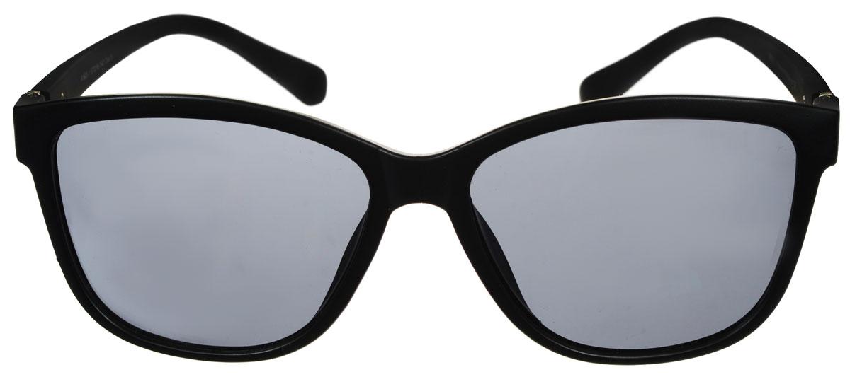 Очки солнцезащитные женские Fabretti, цвет: черный. A1603-1A1603-1Солнцезащитные женские очки Fabretti выполнены с линзами из высококачественного пластика. Используемый пластик не искажает изображение, не подвержен нагреванию и вредному воздействию солнечных лучей, защищает от бликов, повышает контрастность и четкость изображения, снижает усталость глаз и обеспечивает отличную видимость. Линзы имеют степень затемнения Cat. 3. Пластиковая оправа очков легкая, прилегающей формы и поэтому не создает никакого дискомфорта. Такие очки защитят глаза от ультрафиолетовых лучей, подчеркнут вашу индивидуальность и сделают ваш образ завершенным.