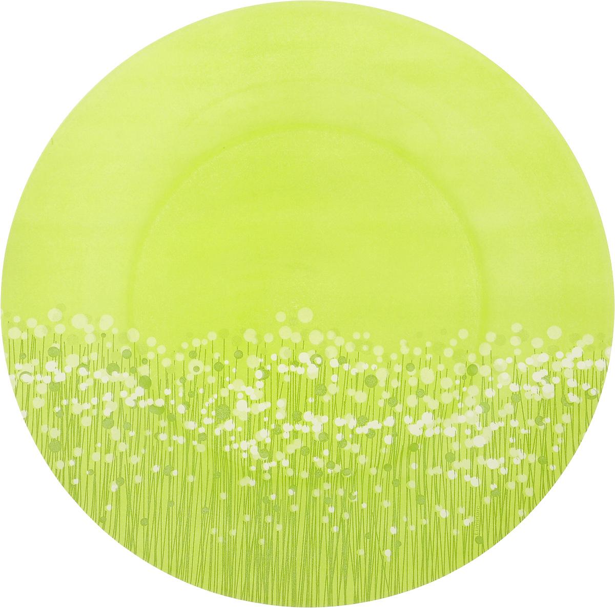 Тарелка обеденная Luminarc Flowerfield Anis, цвет: светло-зеленый, диаметр 25 смH2491_светло-зеленыйОбеденная тарелка Luminarc Flowerfield Anis, изготовленная из ударопрочного стекла, имеет изысканный внешний вид. Яркий дизайн придется по вкусу и ценителям классики, и тем, кто предпочитает утонченность. Тарелка Luminarc Flowerfield Anis идеально подойдет для сервировки вторых блюд из птицы, рыбы, мяса или овощей, а также станет отличным подарком к любому празднику. Диаметр тарелки (по верхнему краю): 25 см. высота тарелки: 2,5 см.