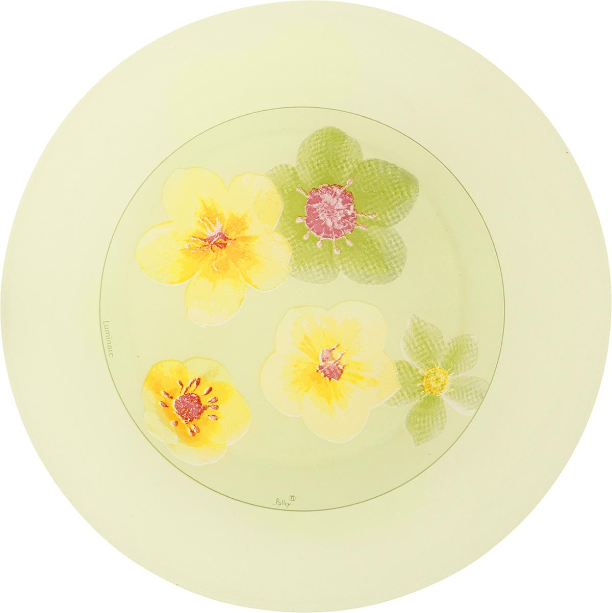 Тарелка десертная Luminarc Poeme Anis, диаметр 20 смJ0285Десертная тарелка Luminarc Poeme Anis, изготовленная из ударопрочного стекла, имеет изысканный внешний вид. Такая тарелка прекрасно подходит как для торжественных случаев, так и для повседневного использования. Идеальна для подачи десертов, пирожных, тортов и многого другого. Она прекрасно оформит стол и станет отличным дополнением к вашей коллекции кухонной посуды. Диаметр тарелки (по верхнему краю): 20 см.