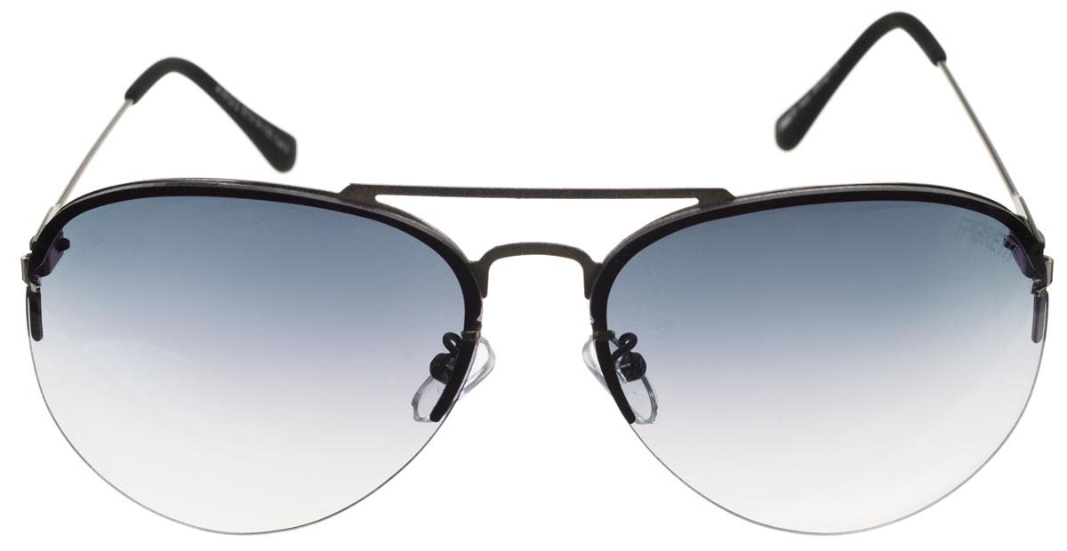 Очки солнцезащитные женские Fabretti, цвет: черный. A1613-2A1613-2Солнцезащитные женские очки Fabretti выполнены с фотохромными линзами оригинальной формы из высококачественного пластика. Используемые линзы корригируют зрение (улучшают зрение до максимально достижимой с очками остроты зрения) и изменяют степень своего затемнения в зависимости от интенсивности солнечного света. Линзы имеют степень затемнения Cat. 2. Металлическая оправа с пластиковыми дужками легкая, прилегающей формы и поэтому не создает никакого дискомфорта. Такие очки защитят глаза от ультрафиолетовых лучей, подчеркнут вашу индивидуальность и сделают ваш образ завершенным.