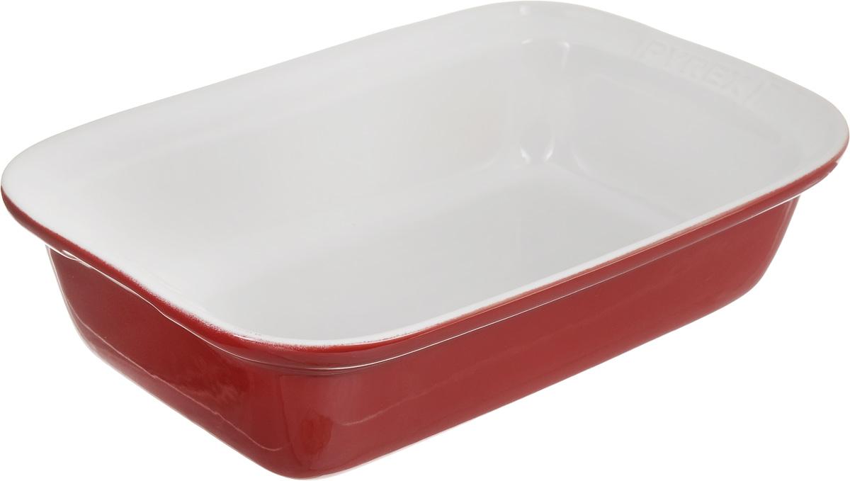 Форма для запекания Pyrex Impressions, прямоугольная, цвет: белый, красный, 31 х 20 смIC5RR31Форма для запекания Pyrex Impressions изготовлена из высококачественной жаропрочной керамики, покрытой глазурью. Изделие отлично распределяет и держит тепло, что обеспечивает равномерное приготовление. Пища в такой форме не пригорает и не прилипает к стенкам, форма легко чистится. Изделие идеально для подачи на стол. Такая форма станет полезным приобретением для вашей кухни и поможет в приготовлении ваших любимых блюд. Можно мыть в посудомоечной машине, использовать в духовке при температуре до 250°С и микроволновой печи, а также для заморозки до -20°С. Внутренний размер формы: 27 х 16 см. Размер формы (с учетом ручек): 20 х 31 см. Высота стенки: 8 см.