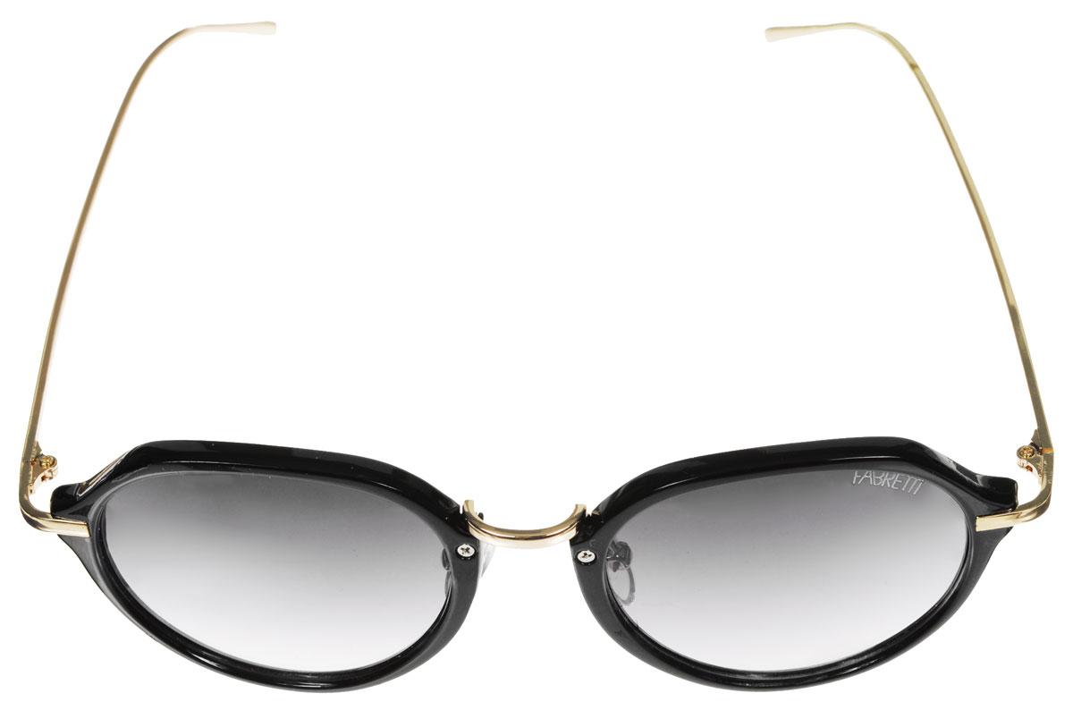 Очки солнцезащитные женские Fabretti, цвет: серый, черный, золотистый. A1616-2A1616-2Солнцезащитные женские очки Fabretti выполнены из высококачественного пластика с фотохромными линзами оригинальной формы. Используемые линзы корригируют зрение (улучшают зрение до максимально достижимой с очками остроты зрения) и изменяют степень своего затемнения в зависимости от интенсивности солнечного света. Линзы имеют степень затемнения Cat. 2. Металлическая оправа легкая, прилегающей формы и поэтому не создает никакого дискомфорта. Такие очки защитят глаза от ультрафиолетовых лучей, подчеркнут вашу индивидуальность и сделают ваш образ завершенным.