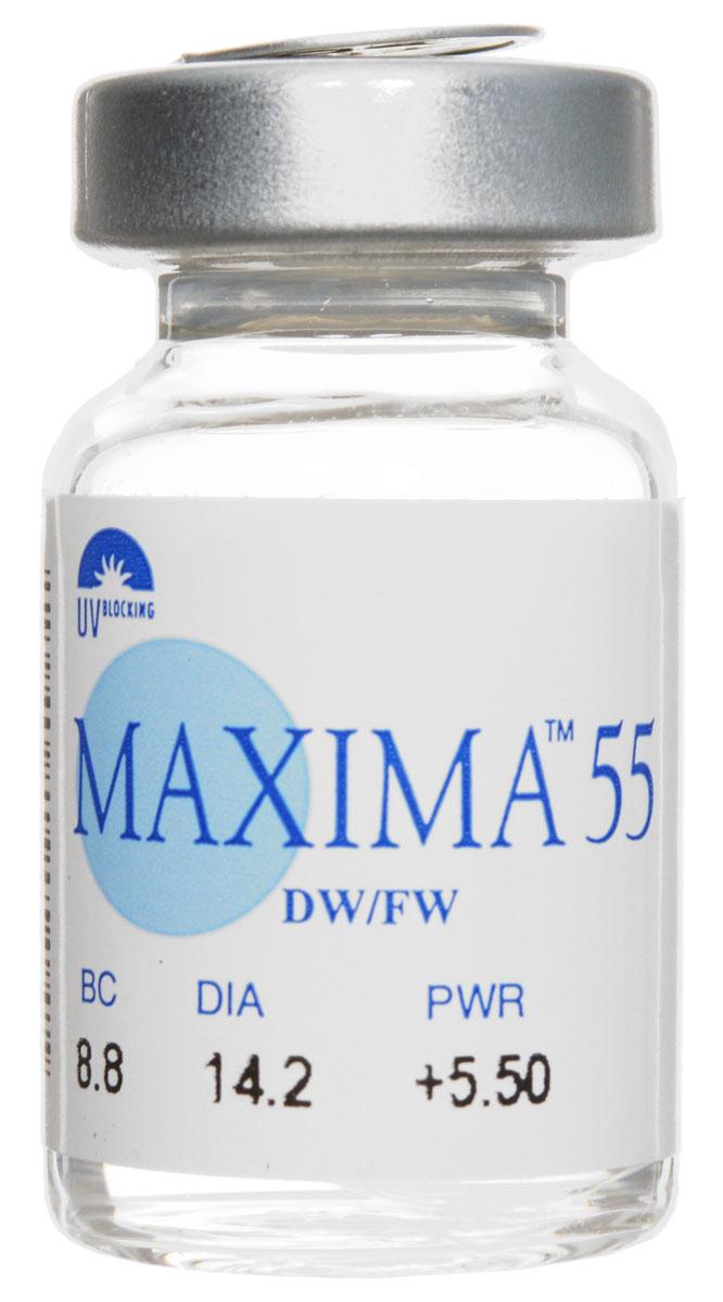 Maxima контактные линзы 55 UV (1шт / 8.8 / +5.50) ( 1069 )