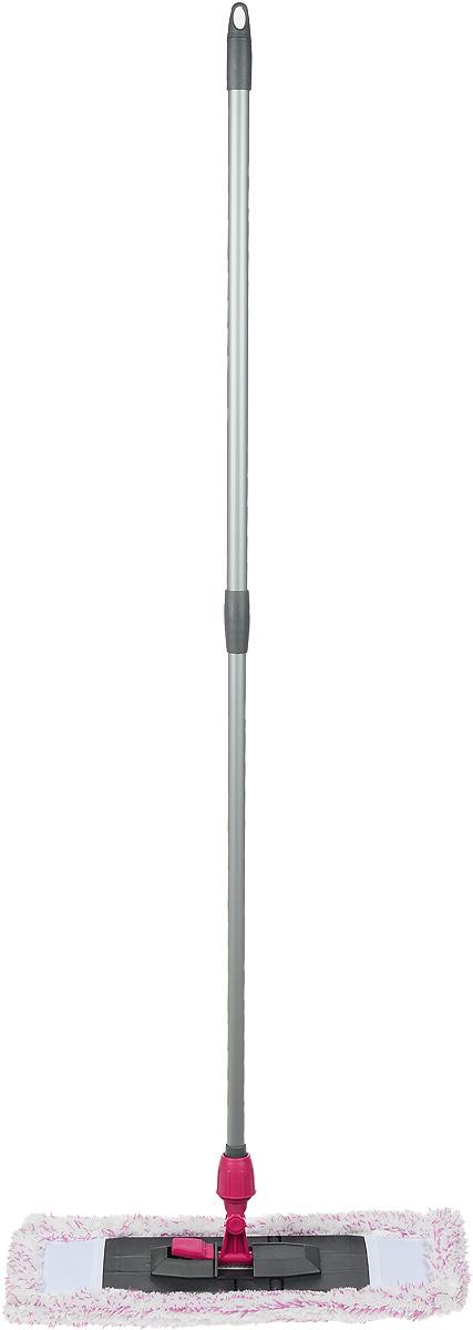 Швабра Мир чистоты Универсальная, с телескопической ручкой, цвет: серый, малиновый, длина 70-120 смST007-EZ001-KT003Швабра Мир чистоты Универсальная с насадкой из микрофибры широко используется для сухой и влажной уборки любых напольных поверхностей. Благодаря уникальным свойствам микрофибры сухая насадка легко удаляет пыль и в три раза лучше впитывает влагу, чем обычный хлопок. Основание швабры складывается, что позволяет легко снять насадку. Изделие оснащено удобной телескопической ручкой, с помощью которой вы сможете регулировать длину швабры. Швабра Мир чистоты Универсальная со складывающим основанием - лучший помощник в доме! Длина швабры: 70-120 см. Размер насадки: 47 х 17 х 3 см.