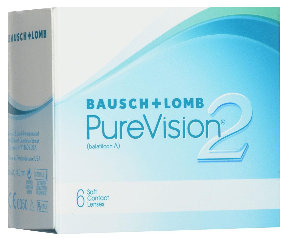 Bausch + Lomb контактные линзы Pure Vision 2 (6шт / 8.6 / - 1.00)38260Асферические контактные линзы Pure Vision 2 с высокой оптической четкостью создавались, чтобы производить коррекцию сферической аберрации, что позволит добиться великолепной четкости зрения. Сферическая аберрация может стать причиной понижения остроты зрения, особенно в условии плохой освещенности, что может привести к ухудшению зрения и засвету. Так же, используя оптику High Definition, вы обретете четкое и хорошее зрение, особенно в условии плохой видимости. Данная линза - наиболее тонкая, представленная в настоящее время на рынке. Она имеет тончайший закругленный край, что дает возможность абсолютно не ощущать их при ношении. Комфортное ношение обеспечивается при помощи технологии ComfortMoist. Представленные линзы упаковывают в блистер с уникальным раствором, который хорошо увлажняет линзу, обеспечивая максимально возможное комфортное ношение. Замена через 1 месяц.