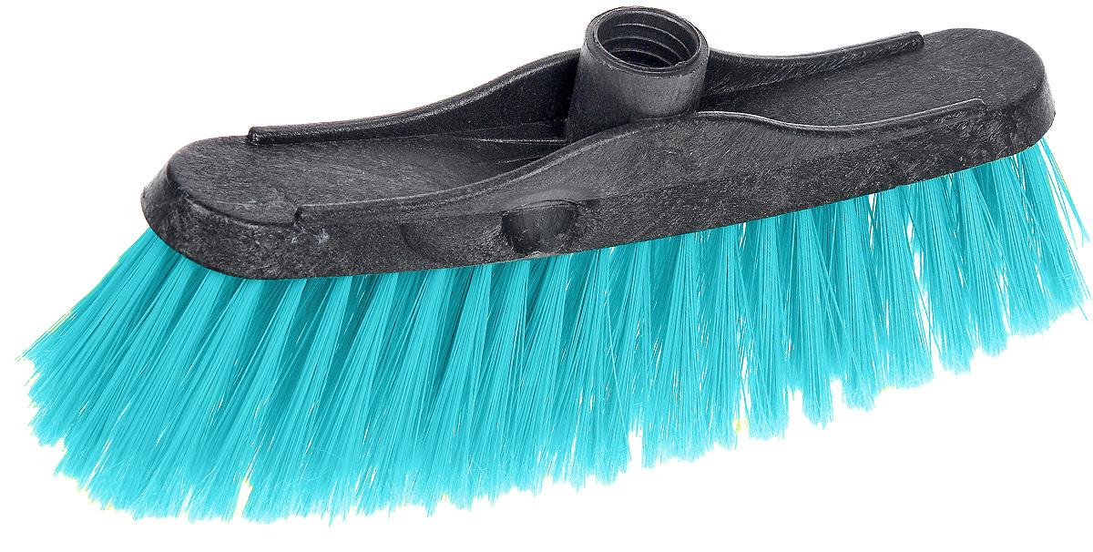 Щетка-насадка для пола Мир чистоты, цвет: бирюзовый, черный. SP032SP032_бирюзовый, черныйЩетка-насадка для пола Мир чистоты, изготовленная из ПВХ (поливинилхлорид), полипропилена и полиэтилена, предназначена для уборки сухого мусора. Изделие оснащено универсальной резьбой, которая подходит ко всем видам ручек. Упругий и длинный ворс максимально быстро без лишних усилий позволит собрать мусор из самых труднодоступных мест. Размер щетки: 23,5 х 4,5 х 10,5 см. Длина ворса: 6 см. Диаметр отверстия под ручку: 2,2 см.