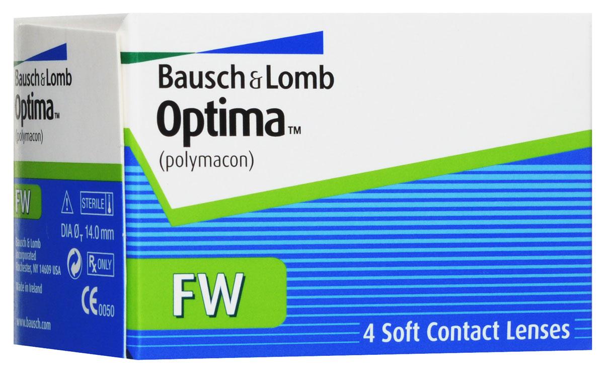 Bausch + Lomb контактные линзы Optima FW (4шт / 9.0 / -2.25)09993Контактные линзы Optima FW производства компании Bausch&Lomb выпускаются уже долгое время и на сегодня являются одними из самых популярных благодаря непревзойденному комфорту. Мягкие гидрогелевые линзы Optima FW изготавливаются из материала полимакон комбинированным способом. Особенность такого процесса заключается в том, что наружная поверхность линз формируется полимеризацией, а внутренняя производится точением. Благодаря этому линза имеет идеальную посадку и остается на глазу совершенно незамеченной. Толщина линзы Optima FW с оптической силой -3,00 составляет 0,035 мм в центре, что обеспечивает хорошее пропускание кислорода к роговице, как следствие - комфортность ношения линз. Плюсовые контактные линзы Optima FW значительно толще - 0,26 мм. Оптическая зона линз - 8 миллиметров. Контактные линзы Optima FW не меняют цвет глаз, но имеют тонировку, предназначенную для простоты операций снятия и надевания линз. Для облегчения манипуляций с линзами их снабжают...