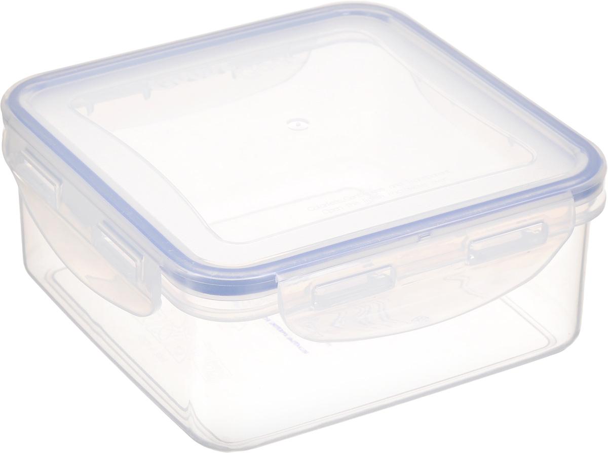 Контейнер для пищевых продуктов Good&Good, 900 млS2-1Квадратный контейнер Good&Good изготовлен из высококачественного полипропилена и предназначен для хранения любых пищевых продуктов. Благодаря особым технологиям изготовления, лотки в течение времени службы не меняют цвет и не пропитываются запахами. Крышка с силиконовой вставкой герметично защелкивается специальным механизмом. Контейнер Good&Good удобен для ежедневного использования в быту. Можно мыть в посудомоечной машине и использовать в СВЧ. Размер контейнера (с учетом крышки): 15 х 15 х 6,7 см.