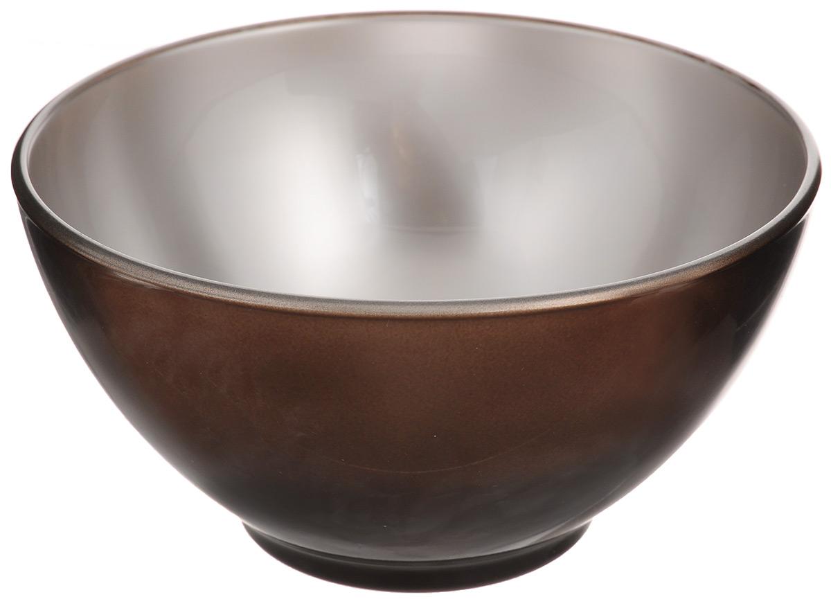 Пиала Luminarc Flashy Colors, цвет: шоколадный, 500 млJ1129Пиала Luminarc Flashy Colors, изготовленная из ударопрочного стекла, прекрасно подойдет для подачи салата, супа или мороженого. Благодаря лаконичному дизайну, такая пиала станет бесспорным украшением вашего стола. Она дополнит коллекцию кухонной посуды и будет служить долгие годы. Диаметр пиалы (по верхнему краю): 13 см. Высота пиалы: 7 см.