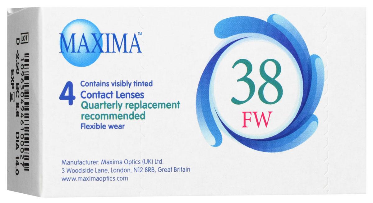 Maxima контактные линзы 38 FW (4 шт / 8.6 / -2.50)
