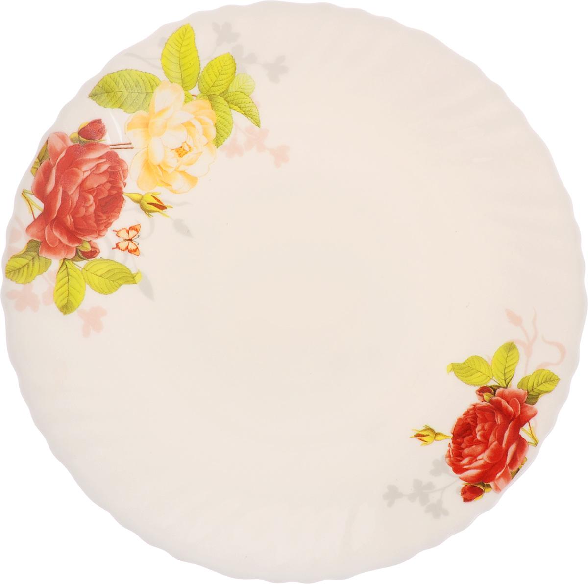 Тарелка десертная Chinbull Рона, диаметр 19 смOLHP-75/315Десертная тарелка Chinbull Рона изготовлена из экологически чистой стеклокерамики и имеет изысканный внешний вид. Такая тарелка прекрасно подходит как для торжественных случаев, так и для повседневного использования. Идеальна для подачи десертов, пирожных, тортов и многого другого. Она прекрасно оформит стол и станет отличным дополнением к вашей коллекции кухонной посуды. Диаметр тарелки (по верхнему краю): 19 см.