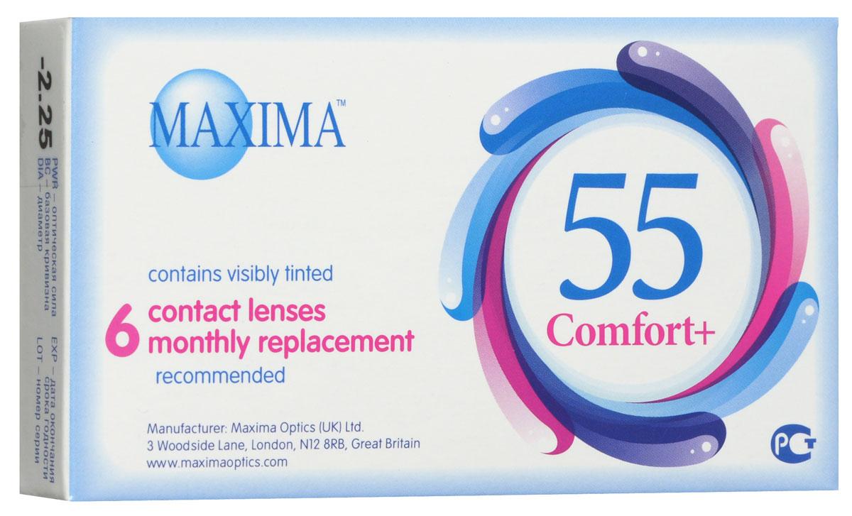 Maxima Optics Maxima контактные линзы 55 Comfort Plus (6шт / 8.6 / -2.25)