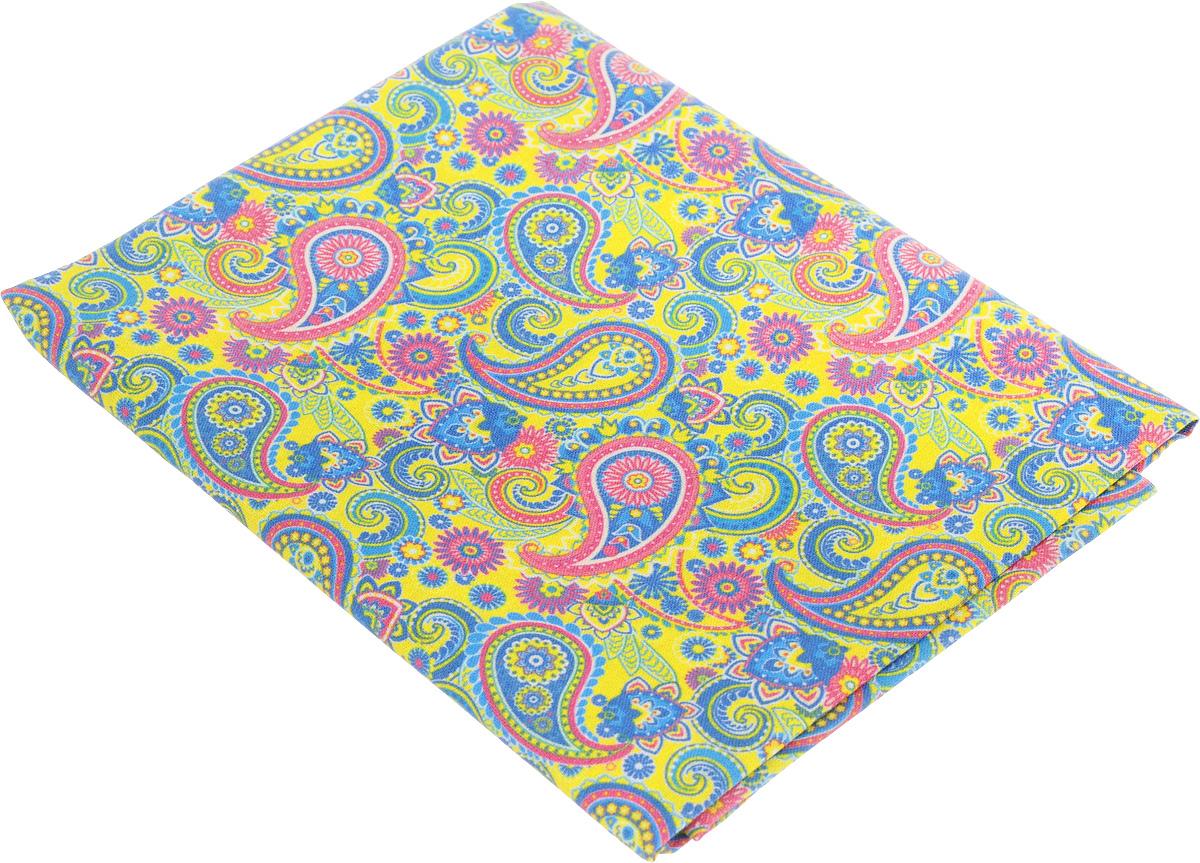 Ткань для пэчворка Артмикс Пейсли, цвет: желтый, синий, розовый, 48 х 50 смAM604002Ткань Артмикс Пейсли, изготовленная из 100% хлопка, предназначена для пошива одеял, покрывал, сумок, аппликаций и прочих изделий в технике пэчворк. Также подходит для пошива кукол, аксессуаров и одежды. Пэчворк - это вид рукоделия, при котором по принципу мозаики сшивается цельное изделие из кусочков ткани (лоскутков). Плотность ткани: 120 г/м2. УВАЖАЕМЫЕ КЛИЕНТЫ! Обращаем ваше внимание, на тот факт, что размер отреза может отличаться на 1-2 см.