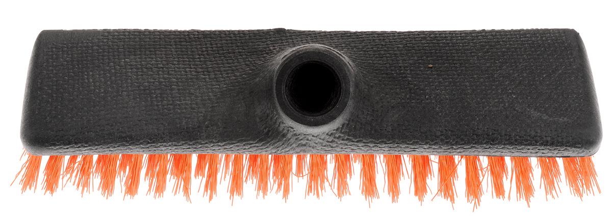 Щетка-скраббер York Twigi, без ручки, цвет: оранжевый4302_оранжевыйЩетка-скраббер York Twigi выполнена из высококачественного пластика. Короткий и жесткий ворс идеален для уборки мусора на улице. Универсальная резьба подходит ко всем видам ручек. Ширина щетки: 23,5 см. Высота ворса: 2,5 см. Диметр резьбы под ручку: 2,2 см.