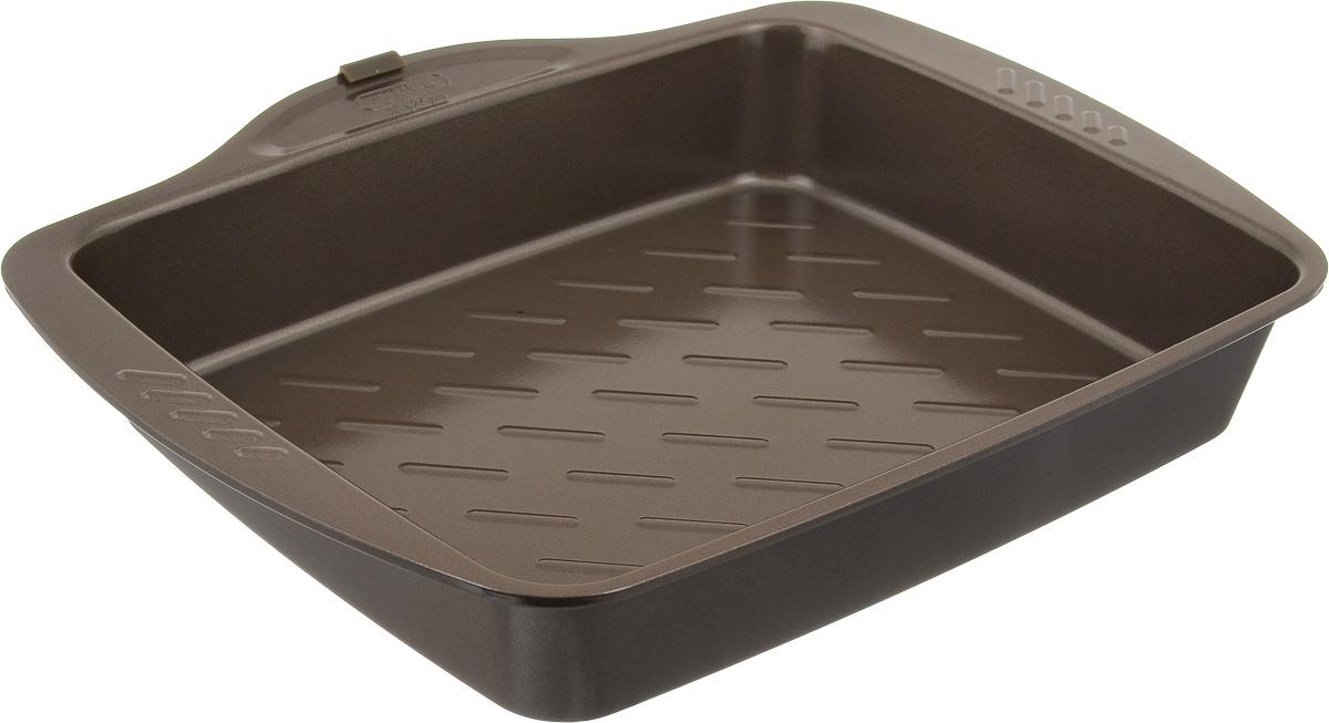 Форма для запекания Pyrex Metal Asimetria, с антипригарным покрытием, 30 х 24 смAS30RR0Форма для запекания Pyrex Metal Asimetria изготовлена из углеродистой стали с антипригарным покрытием. Изделие не содержит примесей PFOA, а также кадмия и свинца, поэтому абсолютно безопасно для использования. Форма снабжена удобными ручками. Пища в такой форме не пригорает и не прилипает к стенкам. Форма станет полезным приобретением для вашей кухни и сделает приготовление любимых блюд намного проще. Можно мыть в посудомоечной машине и использовать в духовке при температуре до 230°С. Внутренний размер формы: 30 х 24 см. Размер формы (с учетом ручек): 35 х 28,5 см. Высота стенки: 5,5 см.