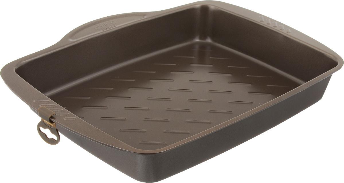Форма для запекания Pyrex Metal Asimetria, с антипригарным покрытием, 35 х 27 смAS35RR0Форма для запекания Pyrex Metal Asimetria изготовлена из углеродистой стали с антипригарным покрытием. Изделие не содержит примесей PFOA, а также кадмия и свинца, поэтому абсолютно безопасно для использования. Форма снабжена удобными ручками. Пища в такой форме не пригорает и не прилипает к стенкам. Форма станет полезным приобретением для вашей кухни и сделает приготовление любимых блюд намного проще. Можно мыть в посудомоечной машине и использовать в духовке при температуре до 230°С. Внутренний размер формы: 35 х 27 см. Размер формы (с учетом ручек): 40 х 31 см. Высота стенки: 5,5 см.