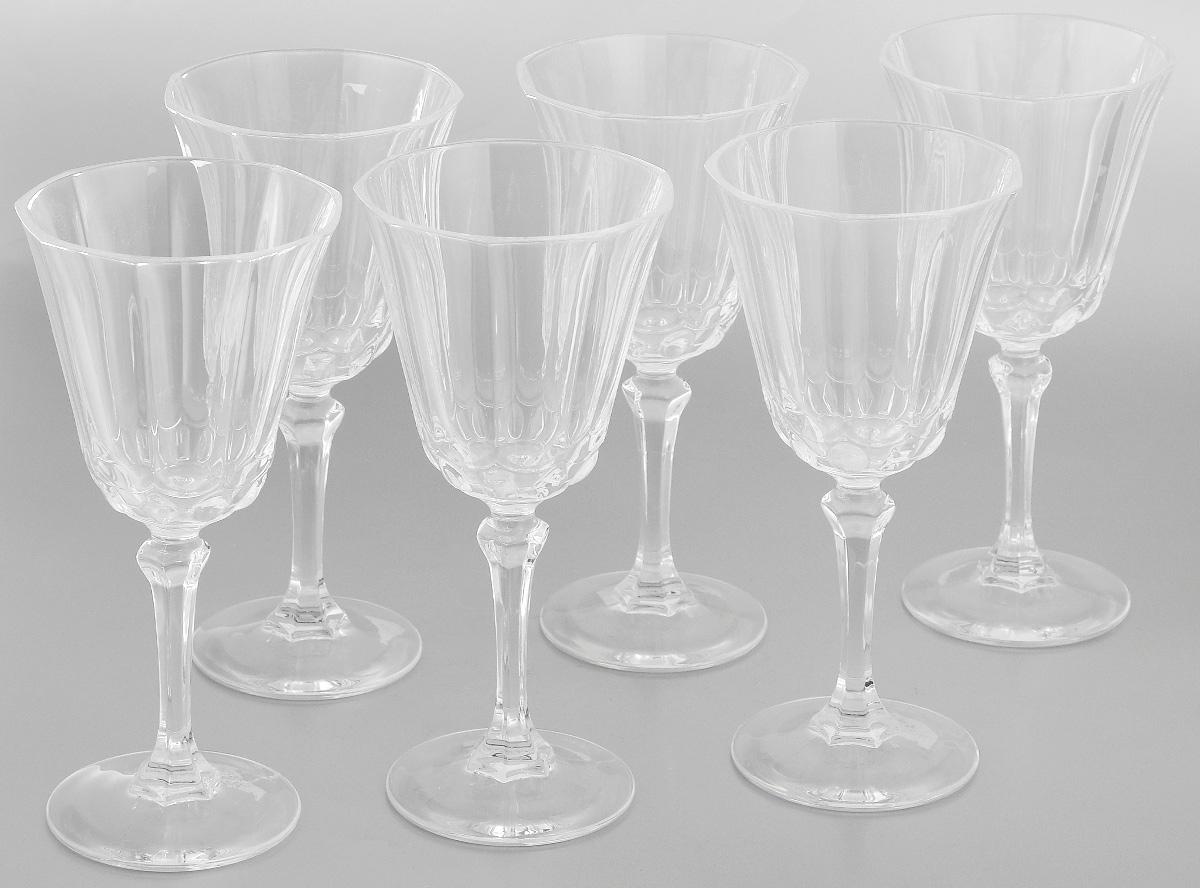 Набор фужеров Cristal dArques Allure, 250 мл, 6 штG5747Набор Cristal dArques Allure состоит из шести фужеров, выполненных из прочного стекла. Изделия оснащены высокими ножками и предназначены для подачи различных напитков. Они сочетают в себе элегантный дизайн и функциональность. Благодаря такому набору пить напитки будет еще вкуснее. Набор фужеров Cristal dArques Allure прекрасно оформит праздничный стол и создаст приятную атмосферу за романтическим ужином. Такой набор также станет хорошим подарком к любому случаю. Можно мыть в посудомоечной машине. Диаметр фужера (по верхнему краю): 8,8 см. Диаметр основания: 7 см. Высота фужера: 18,5 см.