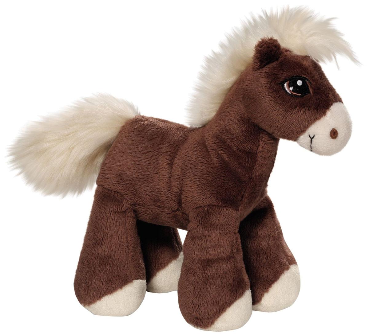 Nici Мягкая игрушка Лошадка Вельвет цвет коричневый 16 см37846Очаровательная мягкая игрушка Nici Лошадка Вельвет выполнена в виде симпатичной плюшевой лошадки. Игрушка изготовлена из высококачественного текстильного материала коричневого цвета. Игрушка невероятно мягкая и приятная на ощупь, вам не захочется выпускать ее из рук. Глазки лошадки вышиты, а хвостик и грива выполнены из искусственного меха. Удивительно мягкая игрушка принесет радость и подарит своему обладателю мгновения нежных объятий и приятных воспоминаний. Специальные гранулы, использующиеся при ее набивке, способствуют развитию мелкой моторики у малыша. Великолепное качество исполнения делают эту игрушку чудесным подарком к любому празднику. Трогательная и симпатичная, она непременно вызовет улыбку у детей и взрослых.